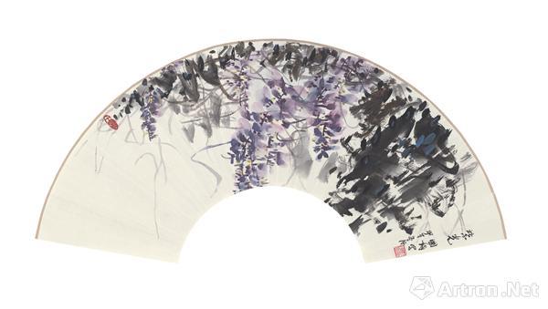 《紫光》30.5x64.5cm纸本水墨2014年