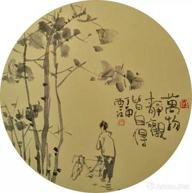 """""""春天的味道""""沈雪江水墨人物画展将于4月28日亮相朵云轩"""