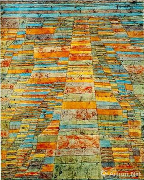 保罗·克利《马路和人行道》(1929)