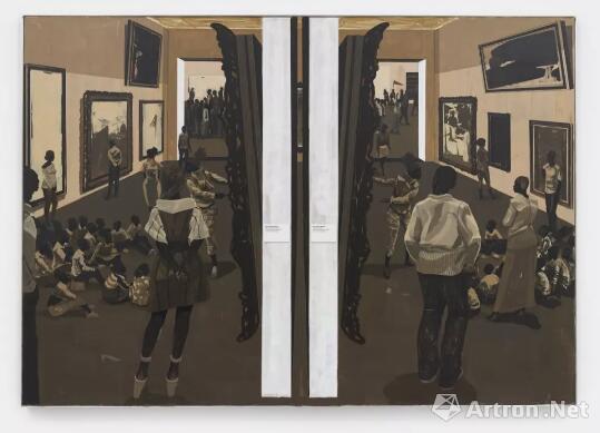 克里·詹姆斯·马歇尔如何再次证明他不愧为在世最伟大的画家_黑人艺术家-艺术品市场-克里-作品-无题