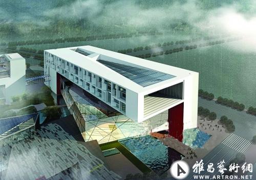 书院建筑设计效果图