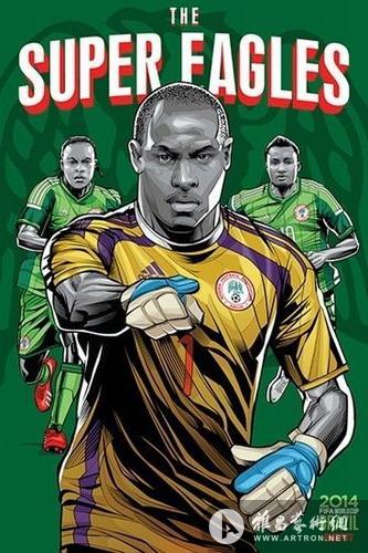 2014巴西世界杯32强球队海报(组图)