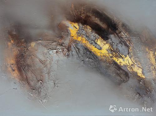 作品 朝阳/党朝阳《残秋之五》90x120cm综合材料2009年6