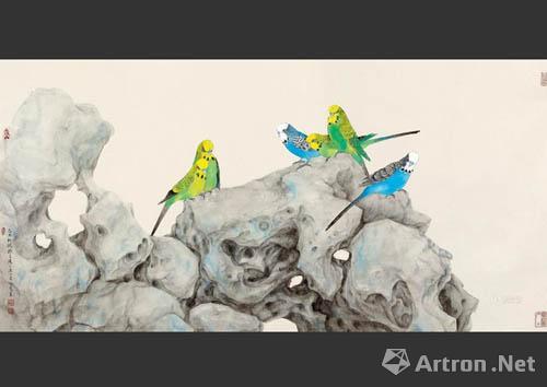能看出喻慧的工筆花鳥畫在市場上有很強的競爭力.