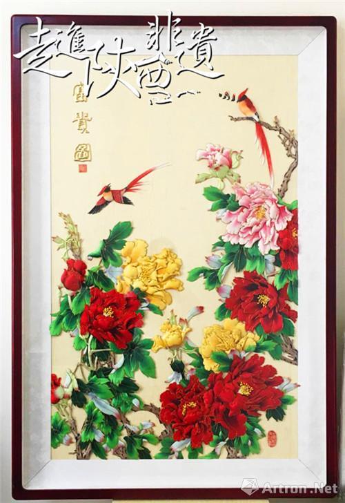 不同于布贴画的制作工艺,布糊画是以满族传统工艺'补花&rsquo