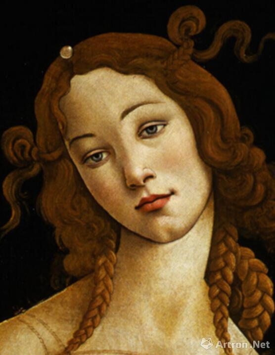 桑德罗•波提切利,《维纳斯》(细节图),布面油画