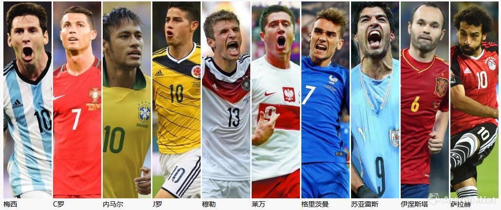 世界杯球迷心中的英雄们