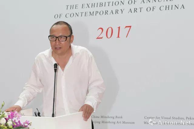 此次展览策展人朱青生开幕式致辞