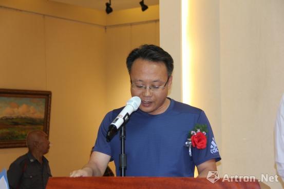 甘肃省美术家协会驻会副主席王联仁致辞