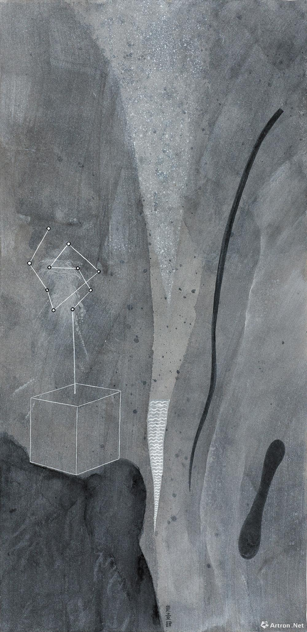 王伊楚 Wang Yichu 素之六 Plain No.6 2014 纸本综合材料 Mixed media on paper 69×33.5cm