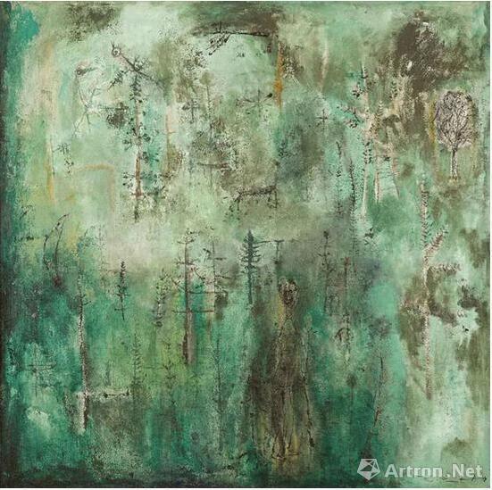 赵无极《翠绿森林》约1950年作 佳士得香港2016春拍 成交价7068万港元