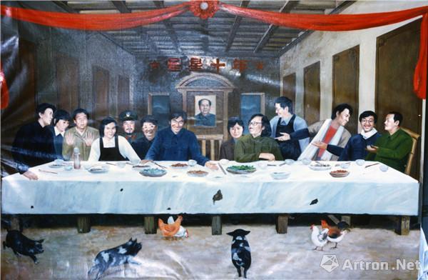 星星十年:《星星的最后晚餐》海报原油画