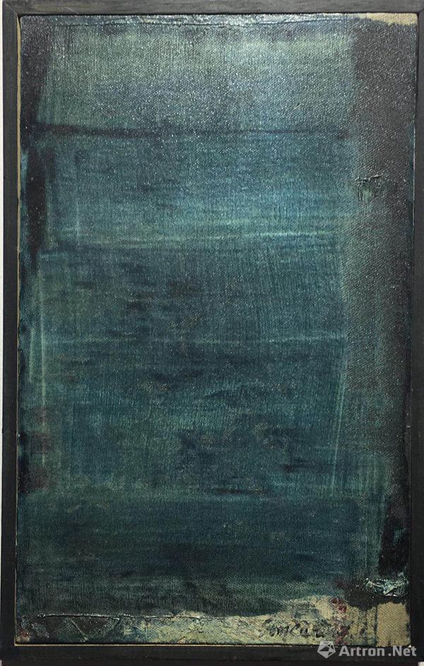 移动山水179号 布面油画 40x25cm 2015年