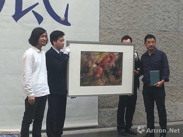胡钜湛向广东美术馆捐赠作品一幅