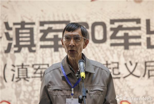 60军抗战将士的后人代表安肇琰开幕式发言