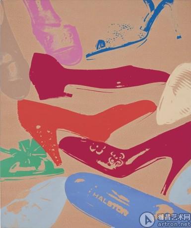 佳士得内地首拍特别呈献 安迪•沃霍尔《钻石粉鞋》